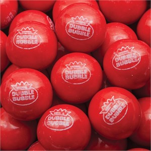 Hot Chew Dubble Bubble 1-Inch Gumballs 5LB