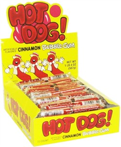Hot Dog Cinnamon Gum 72ct (DISCONTINUED)