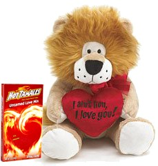 I Ain't Lion Plush Animal with Untamed Love Hot Tamales Candy (Sold Out)