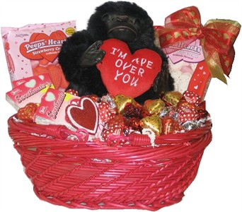 I'm Ape Over You Valentine Basket (Sold Out)