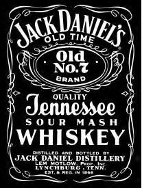 Jack Daniels Old Number 7 B&W Sign (SOLD OUT)