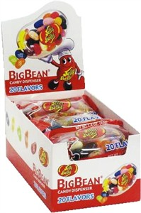 Jelly Belly BIG BEAN 20 Flavor Candy Dispensers 12ct.  (Sold Out)