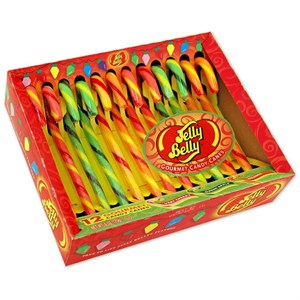 Jelly Belly (Very Cherry, Green Apple & Orange) Candy Canes 12ct.