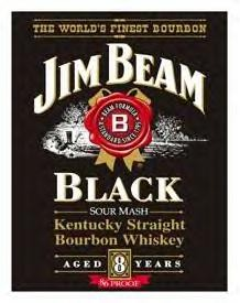 Jim Beam Black Label Sign (Discontinued)