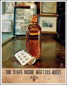 Jim Beam - Stuff Inside Sign(Discontinued)