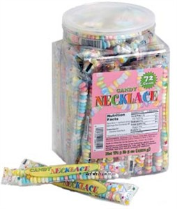 Candy Necklaces 72ct Tub