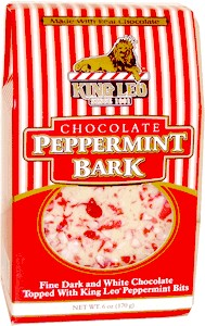King Leo Chocolate Peppermint Bark 6oz. (DISCONTINUED)