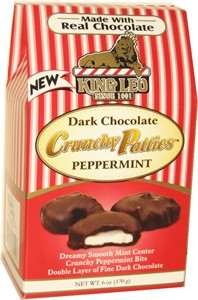 King Leo Dark Chocolate Crunchy Peppermint Patties 6oz. (DISCONTINUED)
