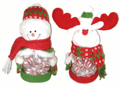 King Leo Peppermint Puff Filled Christmas Character Jars (sold out)