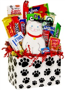 Kitty Cat Paws Retro Candy Gift Basket (DISCONTINUED)