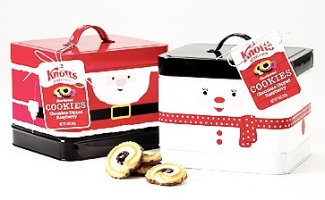 Knott's Berry Farm Christmas Cookie Tin (Sold Out)
