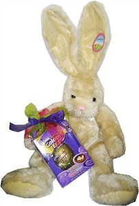 Extra Large Beige Easter Bunny with Golden Egg (DISCONTINUED)
