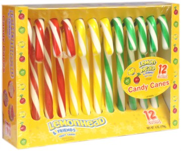 Lemonhead and Friends Candy Canes 12ct.