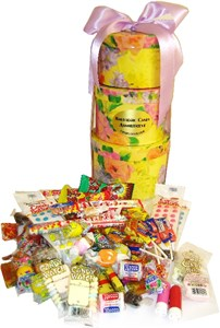 Spring Time Floral Tower of Nostalgic Candy