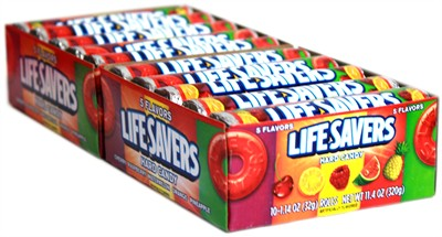 Lifesavers 5 Flavor Candy Rolls 20ct.