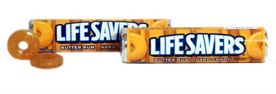 Lifesavers Butter Rum Candy Rolls - 2ct.