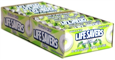 Lifesavers Spear O Mint Candy Rolls 20ct.