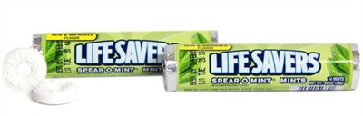 Lifesavers Spear-O-Mint Candy Rolls - 2ct.