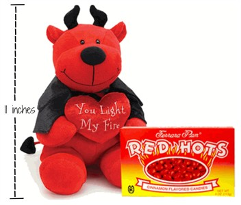 Light My Fire Red Hot Devil Plush Valentine Gift