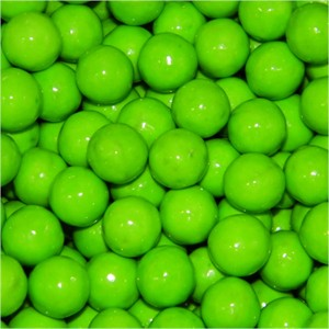 Sixlets Lime Green Candy - 5LB