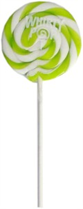 Lime Green & White Whirly Pop 1.5oz - 3 inch
