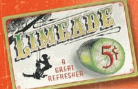 Limeade Vintage Drink Tin Sign