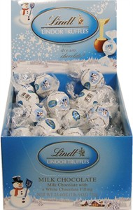 Lindt Lindor Milk & White Chocolate Holiday Snowman Truffles 60ct