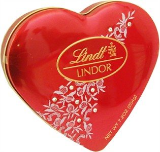 Lindt Lindor ValentineTruffles Heart Tin 7.2oz. (Discontinued)