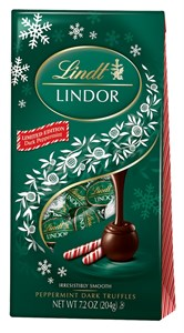Lindt Lindor Limited Edition Dark Peppermint Truffles 7.2oz.
