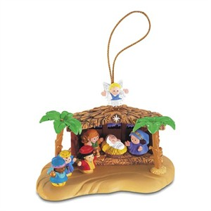 Little People Nativity Scene Christmas Tree Ornament (sold out)
