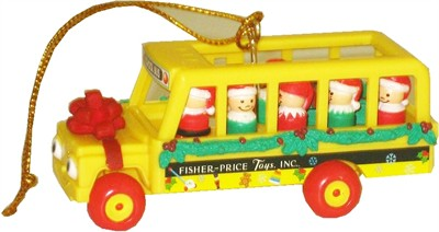 Little People School Bus Christmas Tree Ornament (Sold Out)