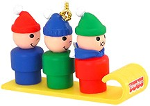 Little People Taboggan Christmas Tree Ornament (sold out)