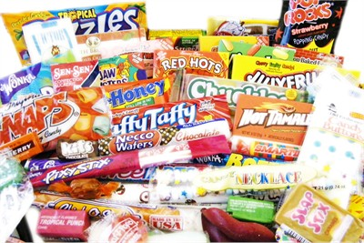 Retro candy by decade