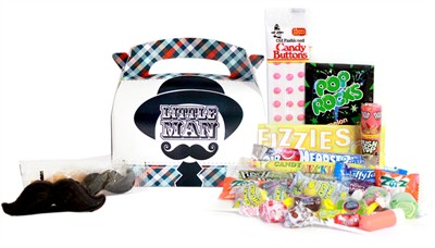 Little Man Mustache Candy Assortment Gift Box