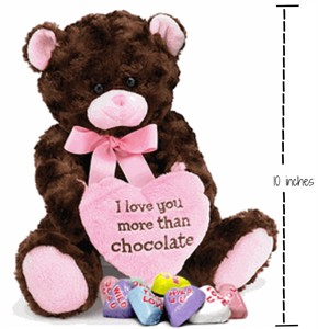 Love You More Than Chocolate Plush Bear Valentine Gift
