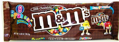 M&Ms Fun Size Snacks 8 Pack (sold out)