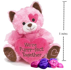 Purr-fect Together Pink Plush Kitty with Chocolate Lips