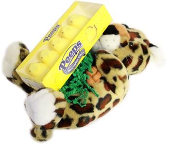 Marshmallow Peep Leopard Plush Basket