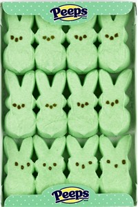 Marshmallow Peeps Green Easter Bunnies 12ct.