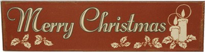 MERRY CHRISTMAS NOSTALGIC TIN SIGN