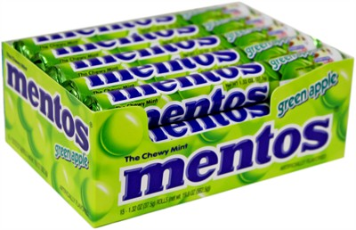 Mentos - Green Apple Chewy Mints - 15ct. (Sold Out)