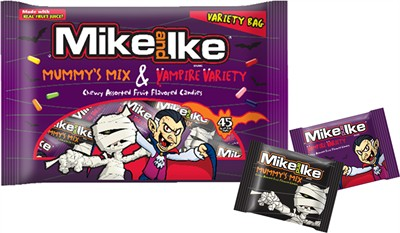 Mike & Ike Mummy's Mix & Vampire Variety Bags 45ct.