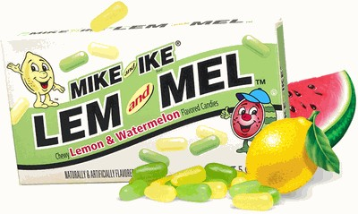 Mike & Ike Lem and Mel Theater Boxes 12ct