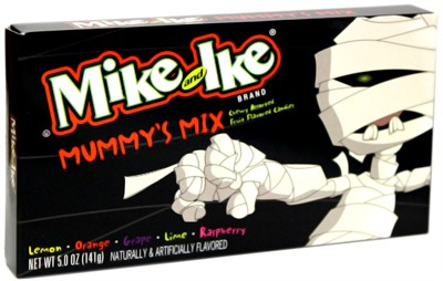 Mike and Ike Mummy's Mix Halloween Theater Size Box