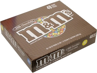 M&M's Plain Candy 48ct