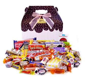 Sprinkled Pink Decade Candy Gift Box