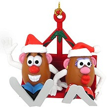 Mr. & Mrs. Potato Head Ski Lift Christmas Tree Ornament (Sold Out)