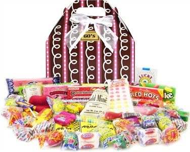 1960's Sprinkled Pink Retro Candy Gift Box (discontinued)