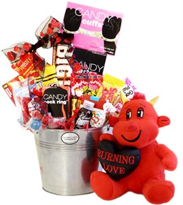 Naughty Little Devil Valentine Candy Gift Pail (sold out)
