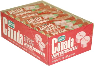 Necco Canada Wintergreen Refreshers 24ct. (DISCONTINUED)